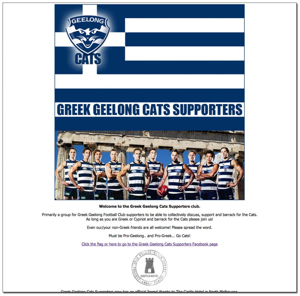 Greek Geelong Cats Supporters