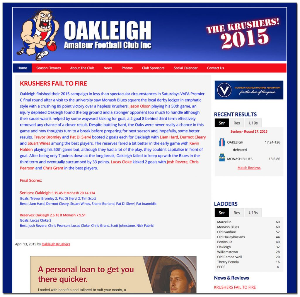 Oakleigh Amateur Football Club
