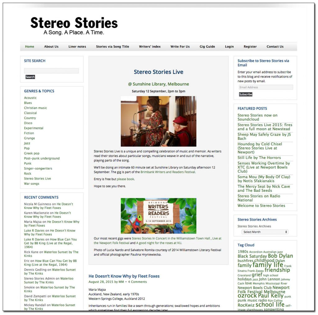Stereo Stories